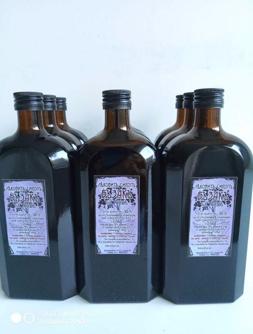 Лековит сироп с бъзак, прополис и мед