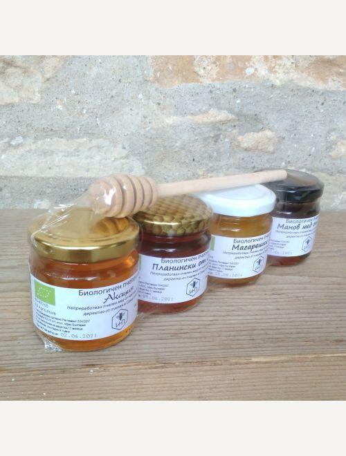 4 вида био пчелен мед