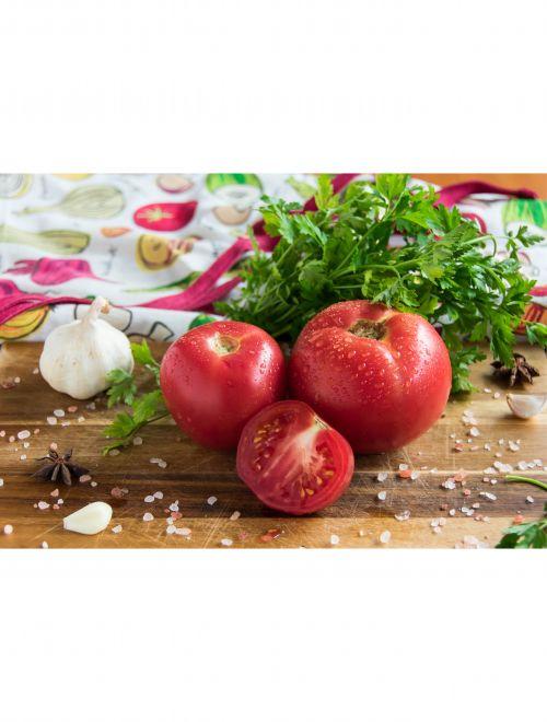 Розови домати от градината