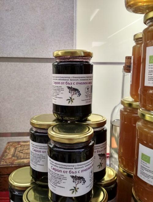 Сироп от бъзак с пчелен мед