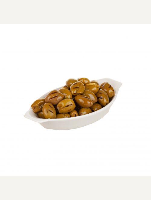 Зелени гриловани маслини Халкидики, опушени на букови трици