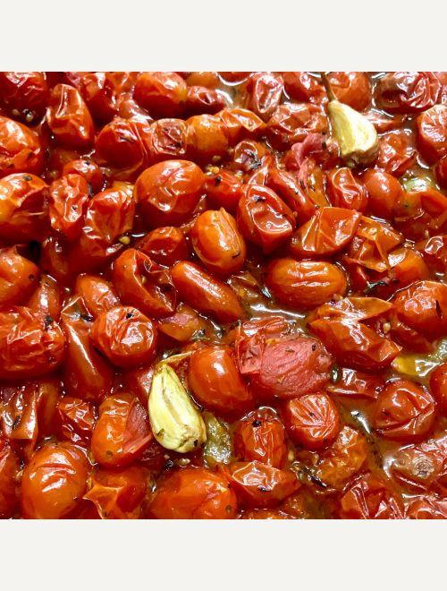 Сос от печени чери доматчета