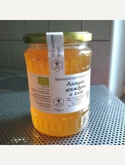 Биологичен пчелен мед Акация, мъждрян, глог