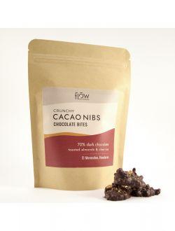 Шоколадови хапки с какаови зърна, печен БГ бадем и череши