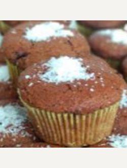 Лимецово кексче с ягодово сладко и шоколад