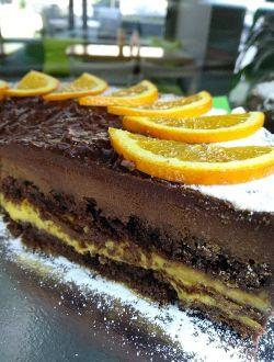 Безглутенова торта с шоколад и портокал