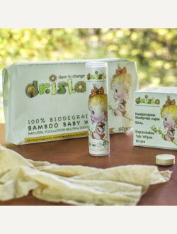 Компресирани бамбукови кърпи Dr. Isla, на брой