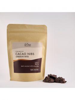 Шоколадови хапки с черен шоколад с кокосово мляко