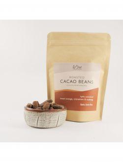 Печени какаови зърна с портокал, канела и индийско орехче
